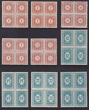 Österreich-PORTO 1922 ANK.Nr.:103-111 pf**Satz 9 Werte im Viererblock