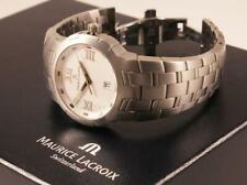 MAURICE LACROIX MILESTONE MENS WATCH REF. 69862 STAINLESS STEEL SAPPHIRE CRYSTAL