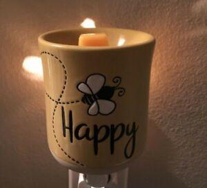 Scentsy Bee Happy Mini warmer New In Box Ready To Post R.R.P £24 Wax Warmer Plug