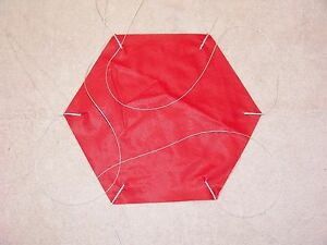 "Rip Stop Nylon Parachute 18"" Red"