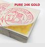20 x (4 x 4 cm) GOLD LEAF 24K 100% FACIAL GENUINE ANTI WRINKLE MASK SPA + Track