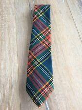 Men's Edgar of Scotland 100% Pure Wool Necktie Tartan Plaid Red Green Navy Multi