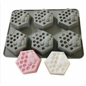 Honey Bee Silicone Mould Soap Resin Clay Wax Cake Mold Handmade DIY Craft UK