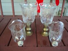 Set of 4 Angel Votive Cup Peg Candle Holders Homco Home Interior
