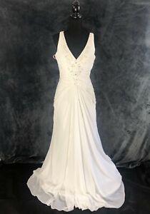 STUNNING WEDDING DRESS BY ROSETTA NICOLINI, SIZE 14, BRIDAL GOWN, RRP £900