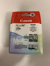 Genuine Canon PG-510 los cartuchos de tinta de color negro + CL-511 ** nuevo **