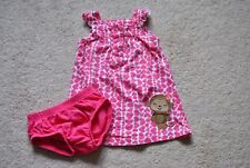 Child of Mine by Carter's Pink Heart Cotton Dress w/ Diaper Cover - Size 6-9M