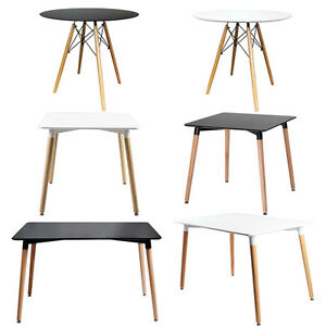 Designer Dining Tables Quality Beech Wood Legs Eiffel Style NEW