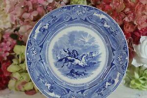 "Anthony Shaw, ""Peruvian Horse Hunt"" Dinner Plates (2) 1853"