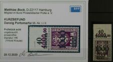 TREFF Danzig Porto MiNr I/II OR ungebraucht Falz Kurzbefund BPP 180,-