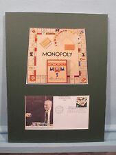 Parker Brothers' Board Game Monopoly & First day Cover of its own stamp