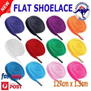 Shoelaces Colorful Coloured Flat Bootlace Sneaker shoe laces AU