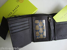 64e86328f Ted Baker Men s Brown Leather Trifold Wallet