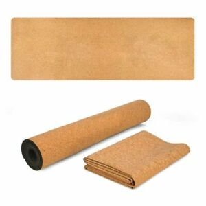 5mm Natural Cork Yoga Mat Tpe Fitness Gym Sports Pilates Exercise Non Slip Pads