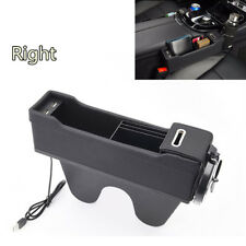 1X Dual USB Right Side Car Seat Gap Storage Bag Pouch Key Wallet Stowing Tidying