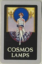Vintage Playing Swap Cards   COSMOS LAMPS    Lady reading a book
