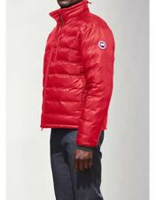 Mens Canada Goose Lodge Hoody Jacket Size XL Down RED