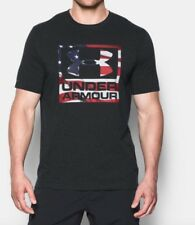 Under Armour * UA Freedom BFL Heatgear T-shirt Black for Men Medium