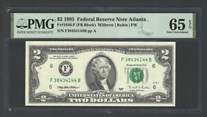 United State - Federal Reserve Note 2$ 1995 Fr1936-F (FB Block) Grade 65