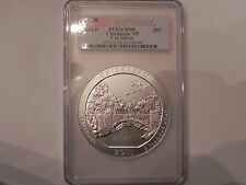 2011-P CHICKASAW 5oz SILVER COIN FIRST STRIKE, PCGS, SP 68