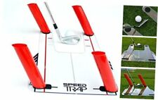 EyeLine Golf Speed Trap 1.0 - Unbreakable Base, Red Speed Rods and Carry Bag;