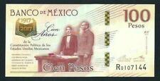 BANK OF MEXICO 100 PESOS COMMEMORATIVE BANKNOTE UNCIRCULATED MINT 2016