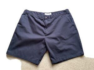 "Mens Navy Blue Chino Style Shorts 42"" Waist"