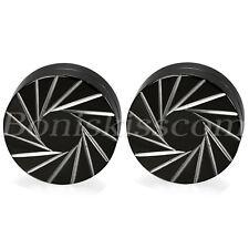 Punk Tornado Pattern Stainless Steel No-pierced Clip On Magnetic Studs Earrings