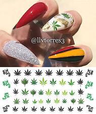 Marijuana Pot Leaf Nail Art Waterslide Decals Set#2 - Salon Quality!