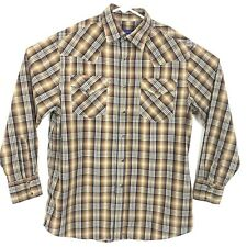 Pendleton Mens Shirt Size M Plaid Pearl Snap Button Down Western Long Sleeve