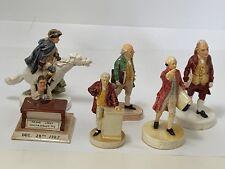 Sebastian Miniatures (6) Rev. War Figures Franklin, Paul Revere, Henry, Hancock