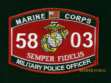 MOS 5803 MILITARY POLICE OFFICER PATCH US MARINES PIN UP MP POLICE GIFT PD WOW