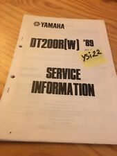 Yamaha DT200R W 1989 DT200 R DT 200 service information technique technical data