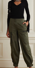 ALEXANDER MCQUEEN MCQ STUNNING RARE BRAND NEW UNIQUE COUTURE KHAKI ARMY PANTS!!!