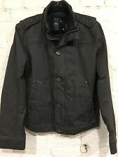 G-Star Raw Military Surplus Jacket Size Large Petrol Gray 100% Cotton H2O Resist