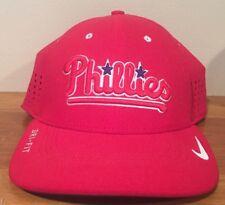 81d6796b209 Philadelphia Phillies NIKE DRI FIT Mesh Perf Hat Cap Size Med-Large