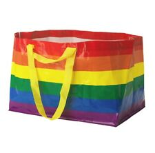 IKEA STORSTOMMA Rainbow Bag Shopping Storage Gay Pride LGBT LGBTQ KVANTING