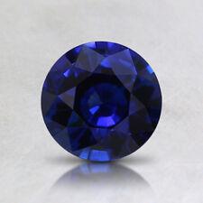 11mm ROUND-FACET DEEP-BLUE LAB SAPPHIRE GEMSTONE