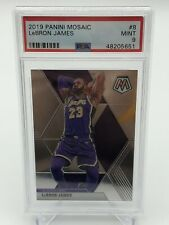 2019-20 Panini Mosaic LeBron James Base Card PSA 9 - Lakers