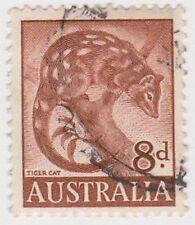 (PDX566) 1959 AU 8d Brown Tiger Cat (B)