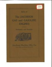 Jacobson Gas and Gasoline Engines - Stationary and Portable - Bulletin 35