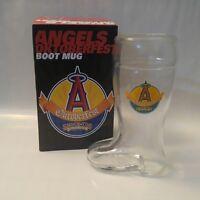 Los Angeles Angels of Anaheim Boot Mug Oktoberfest SGA Belgian White Shock Top