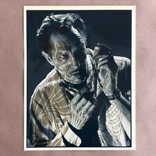 Brian Ewing Signed The Tingler Anatomy Art Print Poster Vincent Price Rare