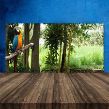 Crédence de cuisine en verre Panneau 120x60 Nature Arbres Perroquet
