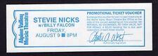 1981 Stevie Nicks from Fleetwood Mac unused full concert ticket Alpine Valley WI