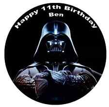 """Star Wars Darth Vader 7.5"""" Cake Topper Personalised  Edible Wafer Paper"""
