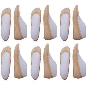 CHEX Secret Socks 6 Pairs Tan Lace Ladies Low Cut Invisible Cotton Blend UK 3-6