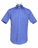 Kustom Kit KK109 Mens Short sleeve shirt office casual work medium blue NEW