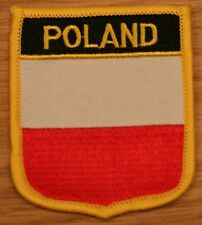 POLAND Polish Shield Country Flag Embroidered PATCH Badge P1