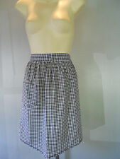 Vintage 1950s 2 Tone Gingham Plaid Checker Apron Mod Atomic Rockbilly Pinup vLv